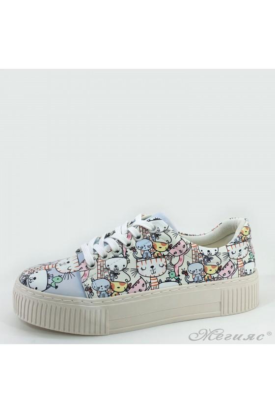 Lady sneakers lt blue pu 2500