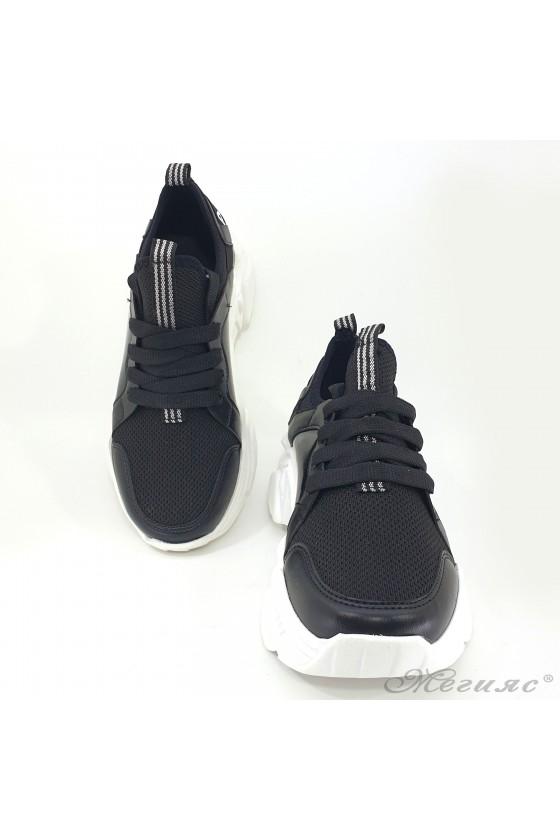 Дамски маратонки черни 3501