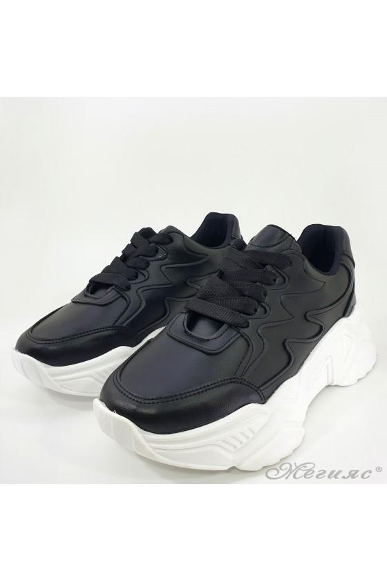 Lady sneakers black pu 3500