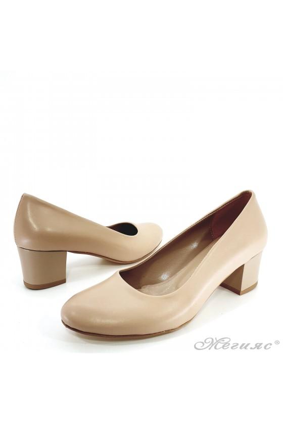 Lady shoes beige pu 903