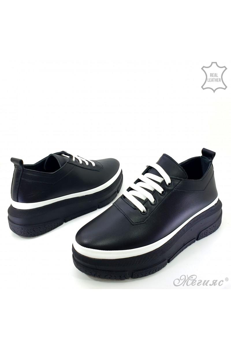 Дамски обувки естествена кожа черни 1552