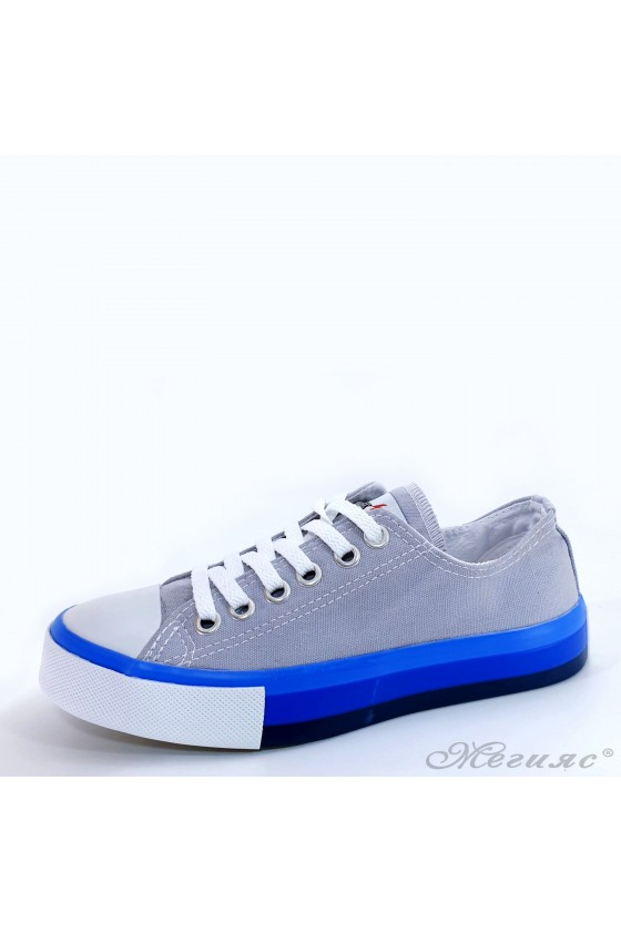 Lady sneakers grey textile...