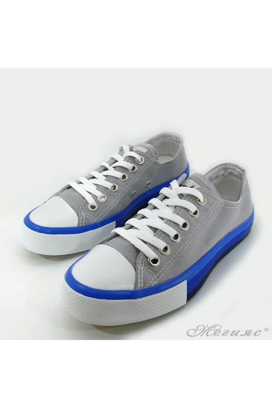 Lady sneakers grey textile 1077