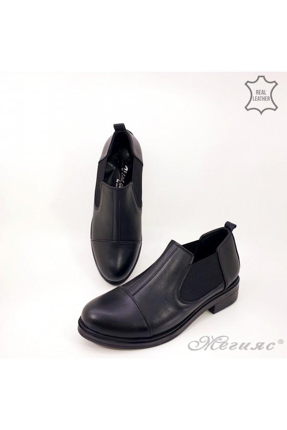 Дамски обувки ежедневни естествена кожа черни 1331