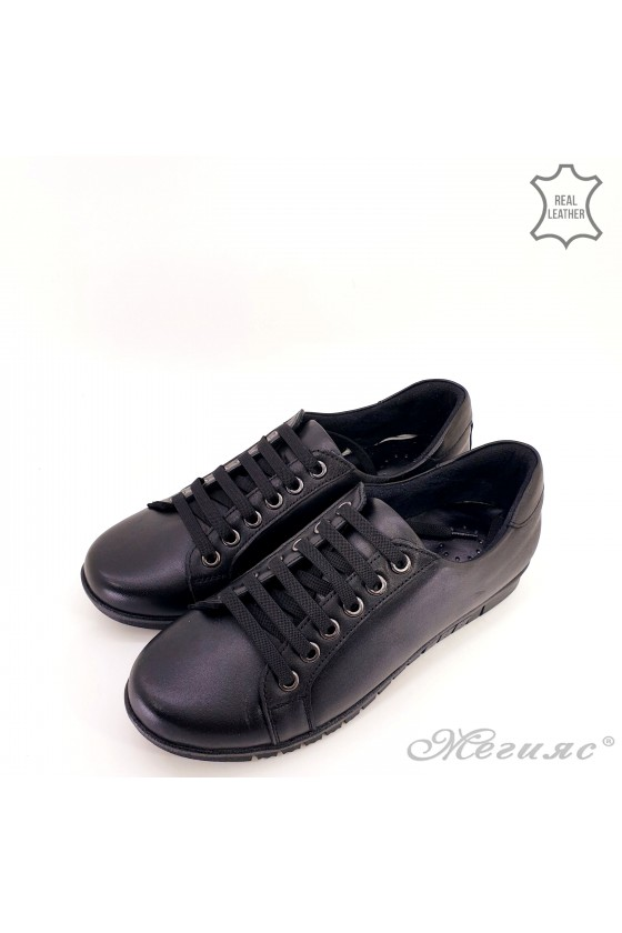 Дамски обувки естествена кожа черни 1553