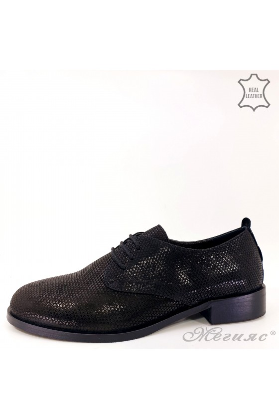 Дамски обувки ежедневни естествена кожа черни 200-39