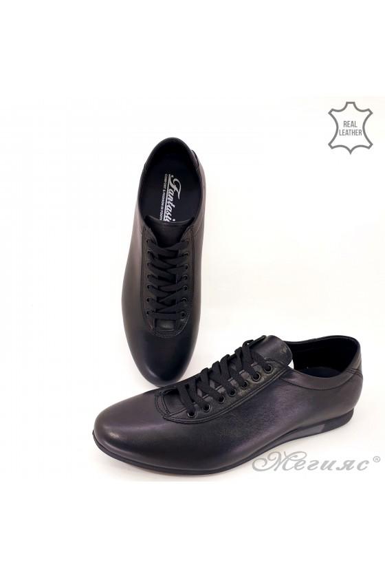 Спортно-елегантни мъжки обувки от естествена кожа 8296