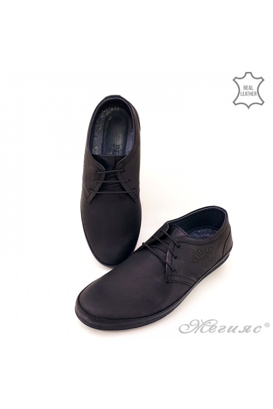 copy of Men shoes 752 blue+brown leather