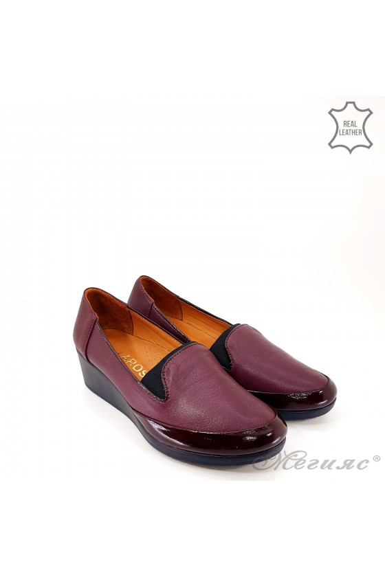 Lady shoes wine leather 414-52-67