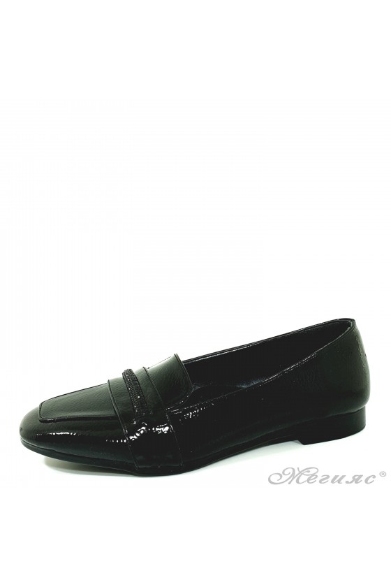 Lady shoes black shine 1101