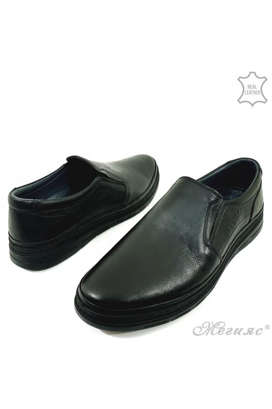 Men's shoes black leather 851-14