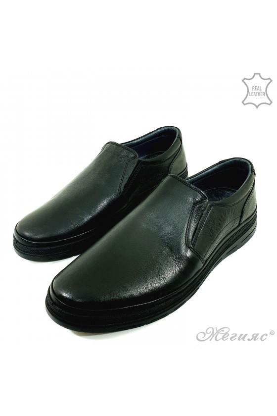 Мъжки обувки естествена кожа черни 851-14