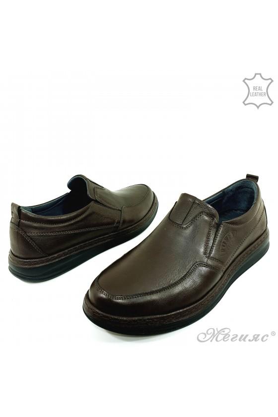 Мъжки обувки естествена кожа кафяви 153