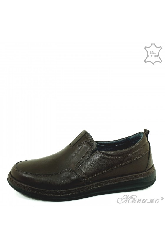 Men's shoes brown leather 153