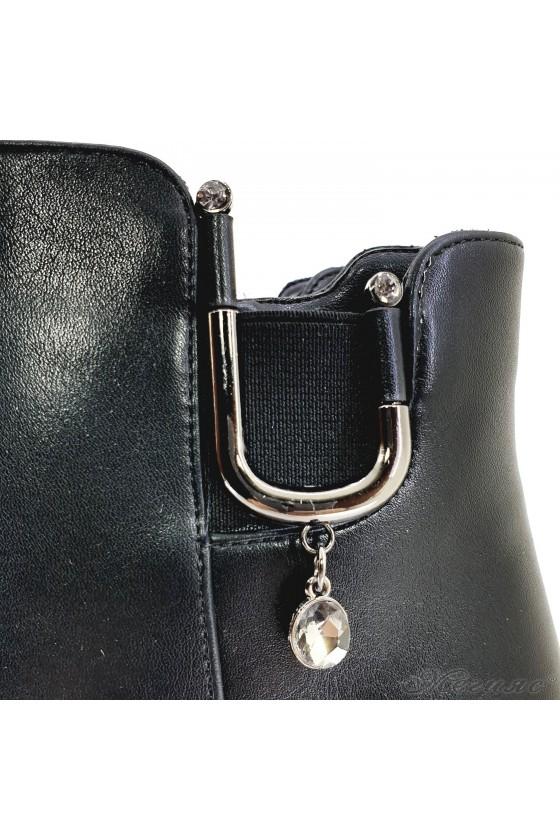 Lady boots Carol W18-2037 black pu
