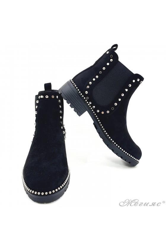 Women boots CASSIE 19-1450 black suede