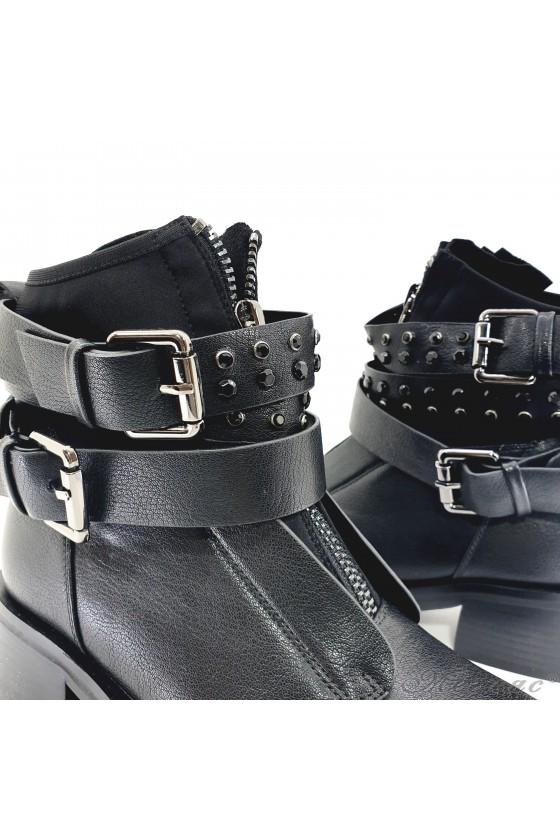 19-1411 Christine Women boots black pu