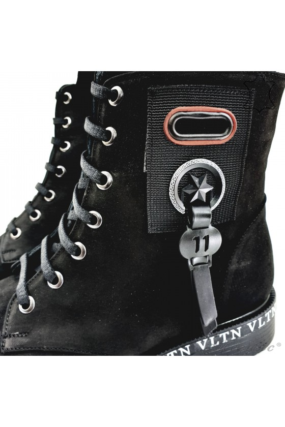 1075-06 Lady boots black leather