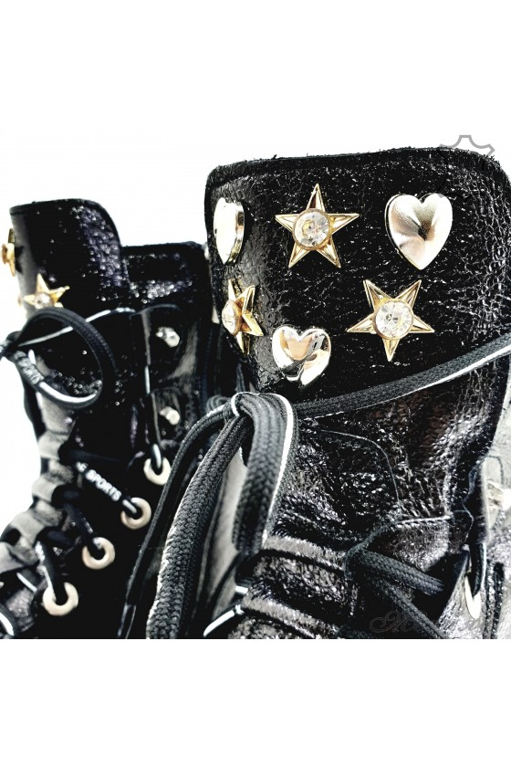 107-826 Lady boots black leather