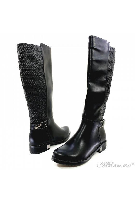 Lady boots Carol 20W18-2045 black pu