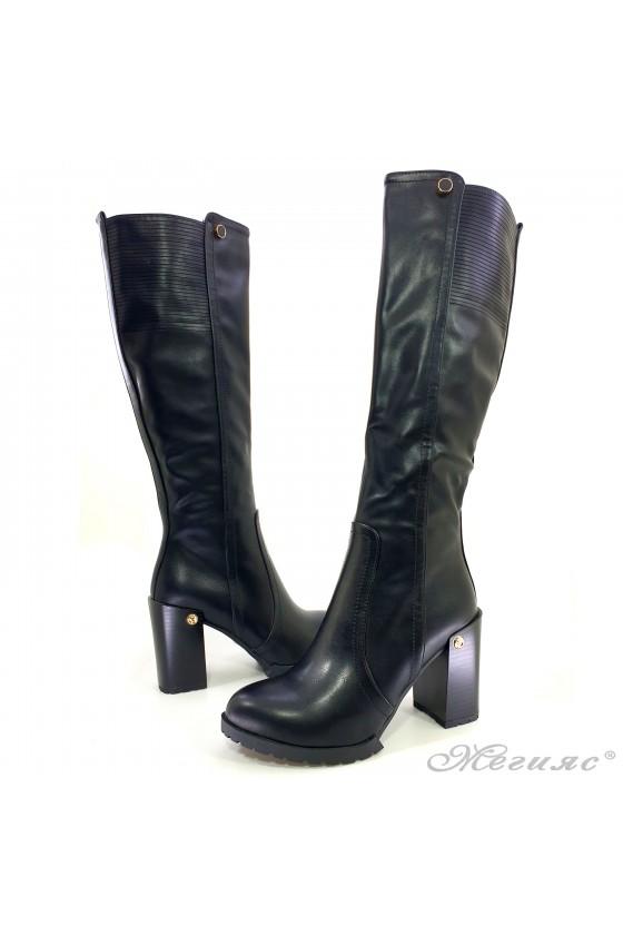 Lady boots Carol W18-2082/2043 black pu