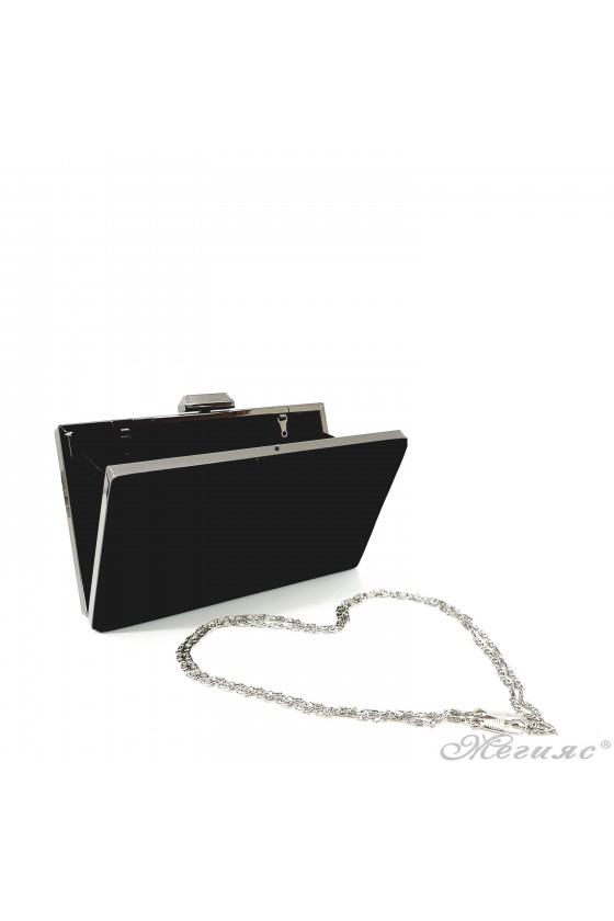 Дамска чанта черен велур 5560