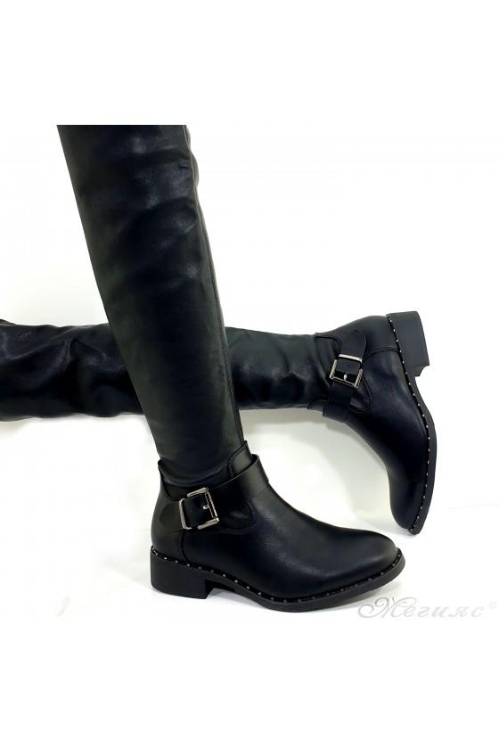 Дамски чизми черни Cassie 19-1480