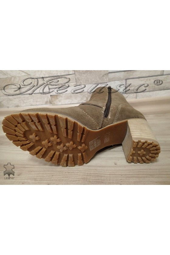 Lady boots 301-5  beige leather