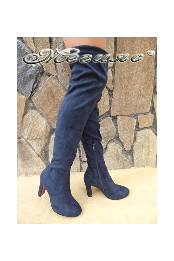 Lady boots Cassie 18-2494 blue suede
