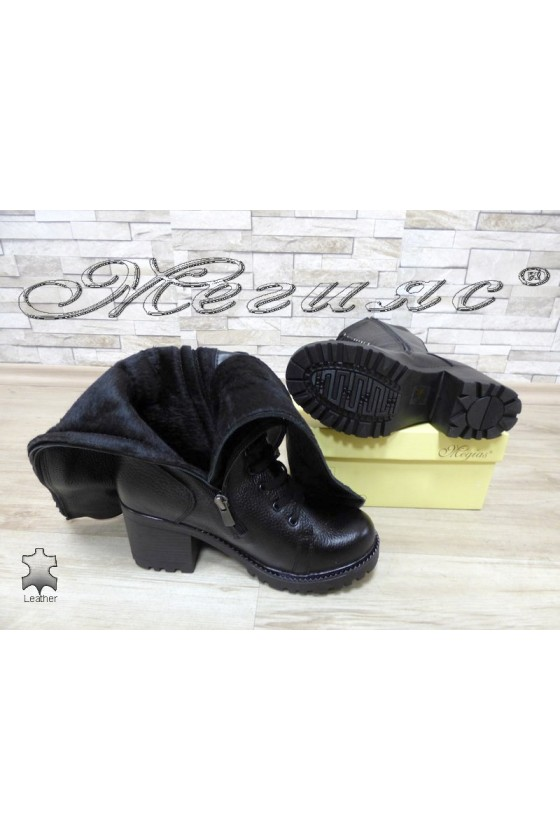 Women boots 7705/300 black  leather