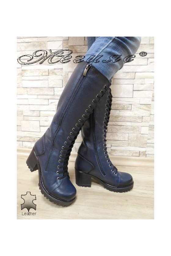 Women boots 7705/302 blue leather