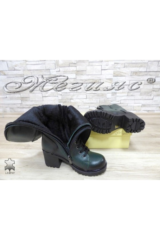Women boots 7705/303 green leather