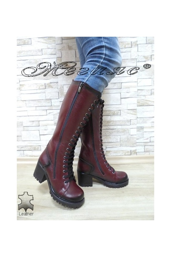 Women boots 7705/304 bordo leather