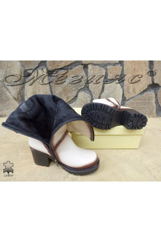 Women boots 50/301 beige leather