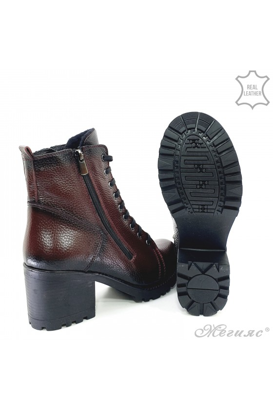 Lady boots 590 wine leather