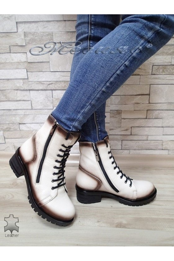 Lady boots 705 white leather
