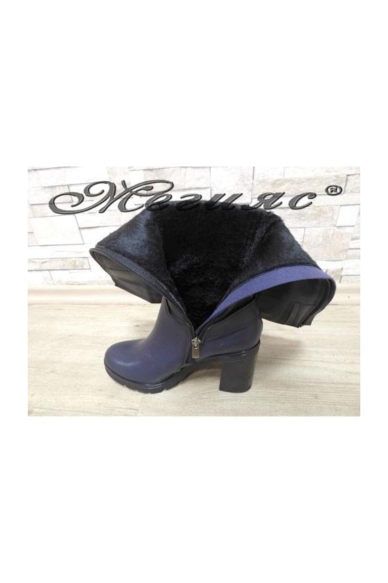 7504 Lady boots blue pu
