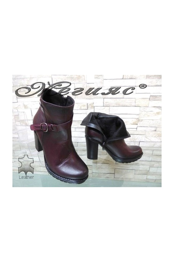 910 Lady boots black/wine leather
