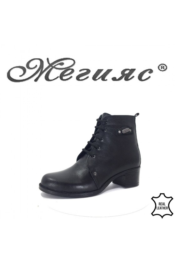 912-1 Lady boots black leather