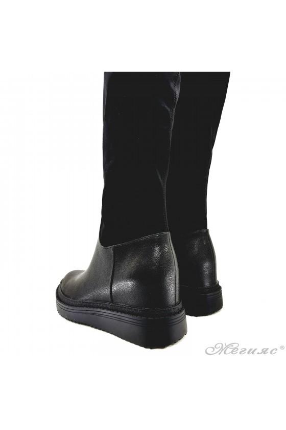 Lady boots Carol 20W18-2028  black pu