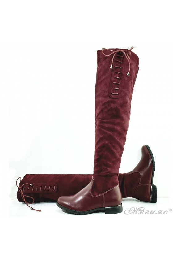 Lady boots Cassie 20W17-59 wine suede