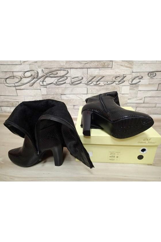 Lady boots 20W17-62 black pu