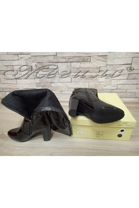 lady boots Cassie 20W17-50 black lak