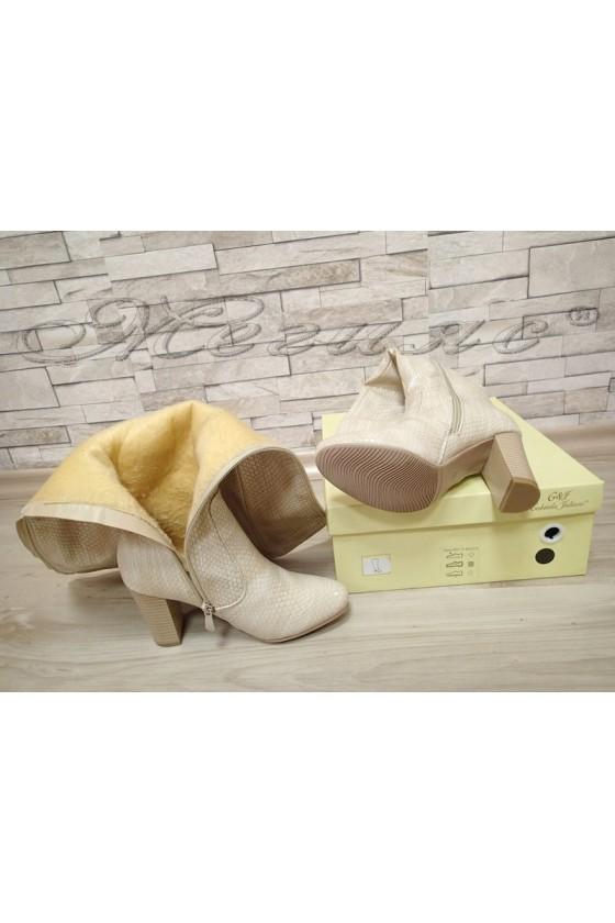 Lady boots 20W17-51 beige pu