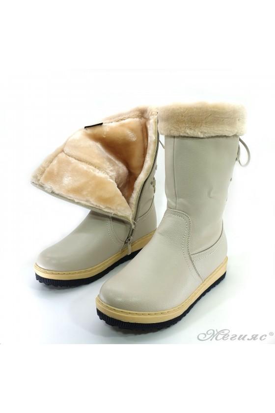 VENUS 19-1654 Women boots beige pu