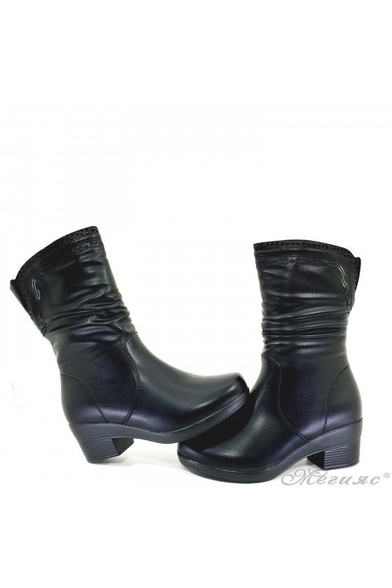 Lady boots VENUS 18-2403 black pu