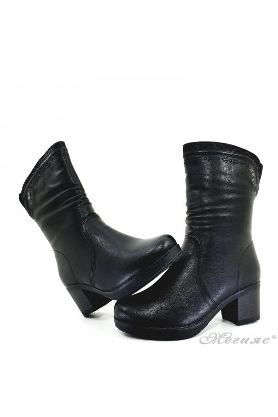 Lady boots  VENUS 18-2410 black pu