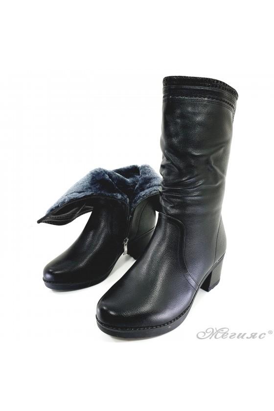 VENUS 19-1661 Women boots black pu