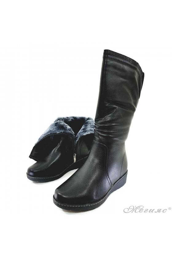 VENUS 19-1660 Women boots black pu
