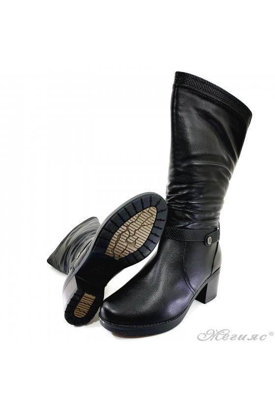 Lady boots VENUS 18-2412 black pu